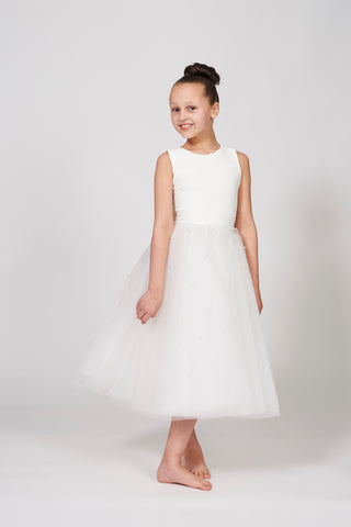 Zoe Ivory Pearl Tulle Dress
