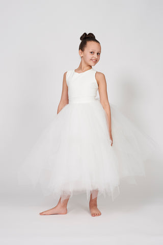 Lyanna Ivory Choppy Tulle Dress