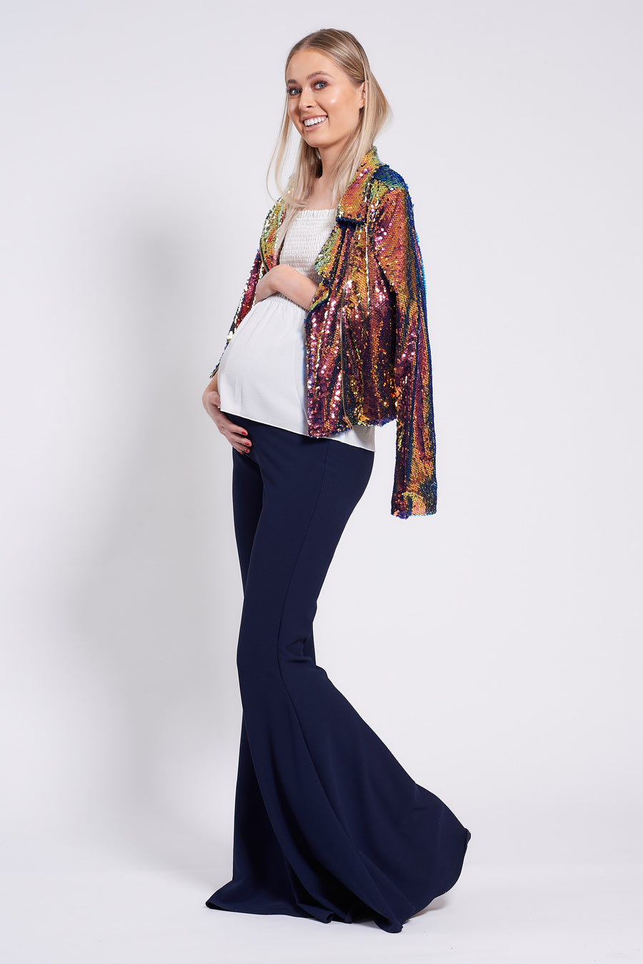 Navy Maternity Stretch Flares - SALE
