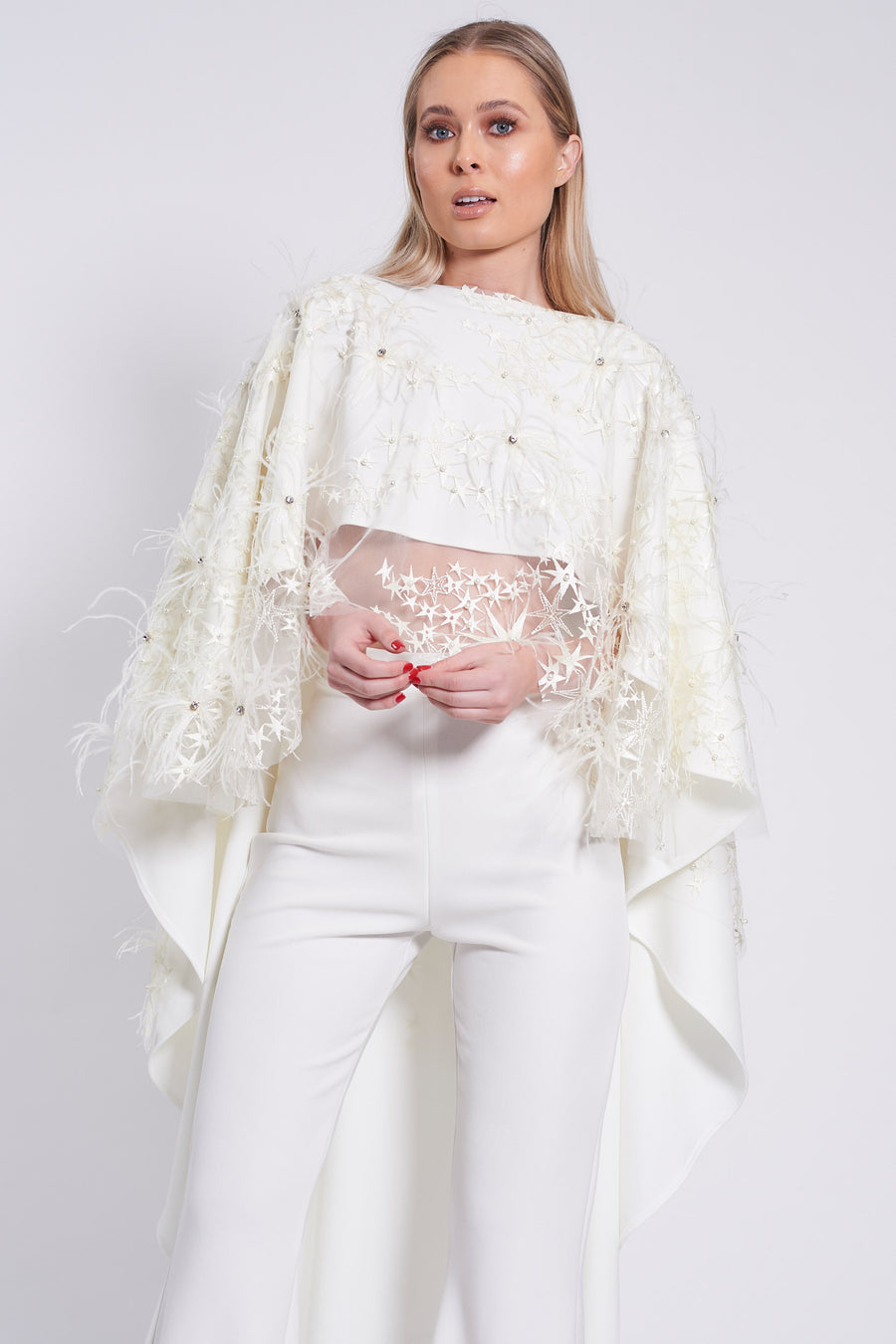 Ivory Lace Roxy Taba Top