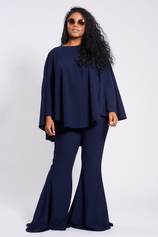 Navy Longer Length Taba Suit
