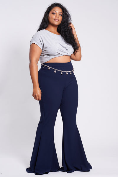 Navy Stretch Flares
