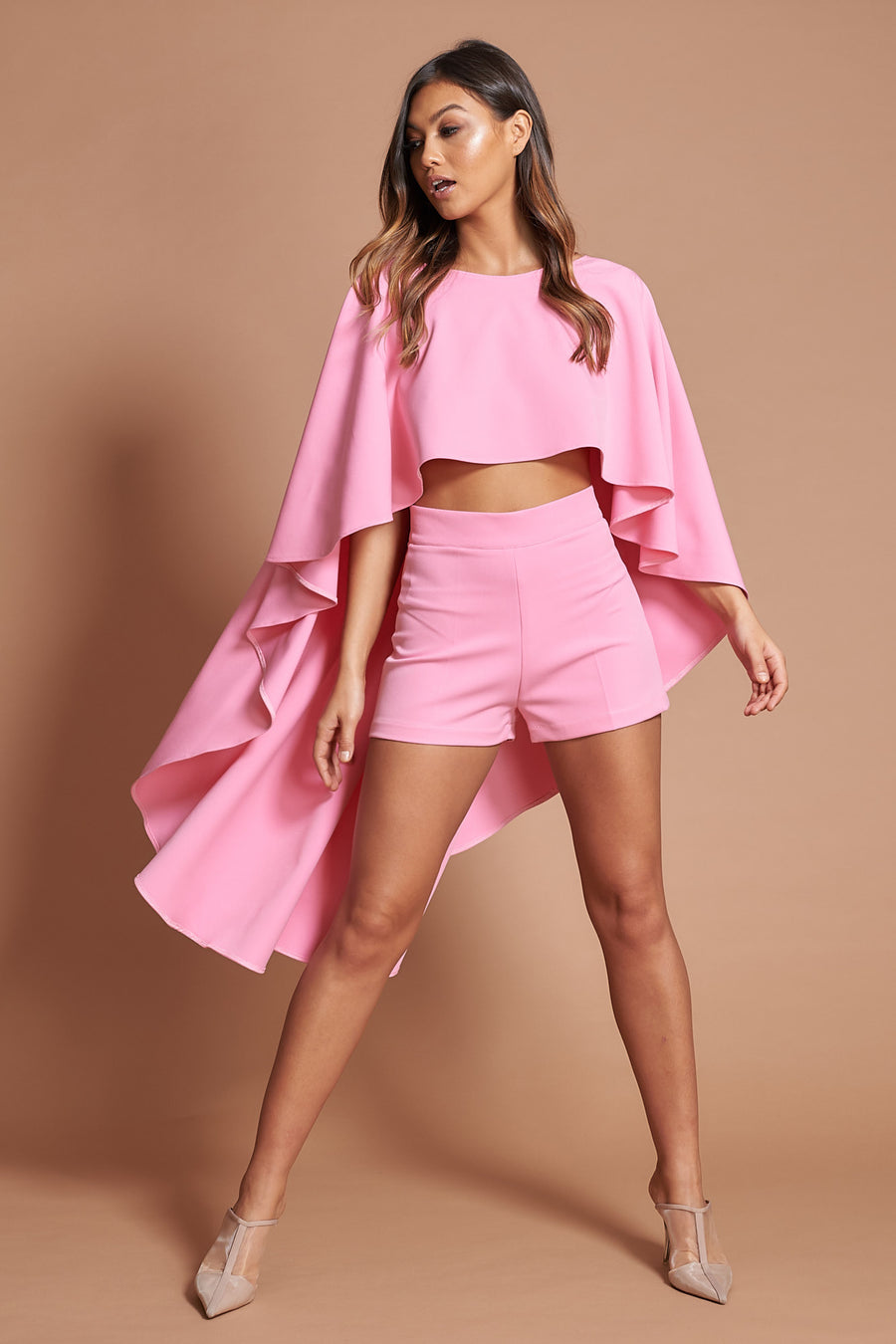 Rose Pink City Shorts