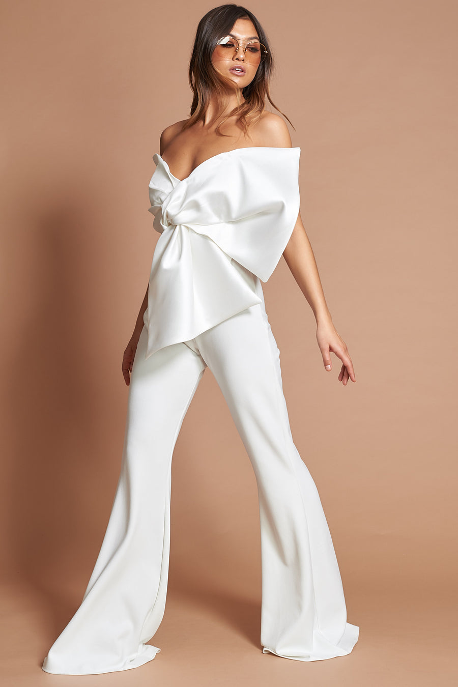 Ivory Tailored Mid Flares