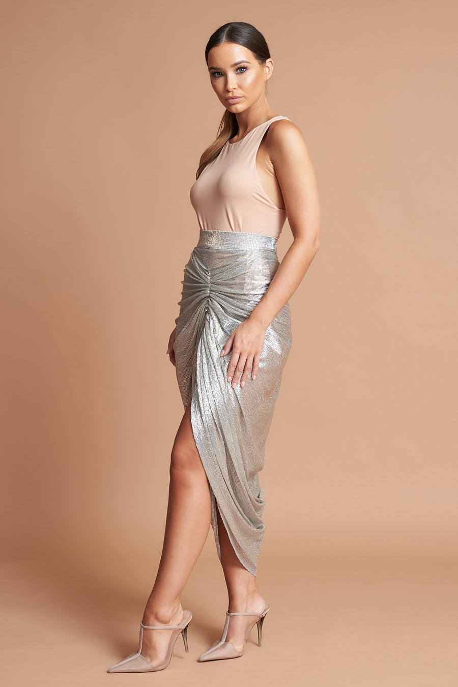 LTD Edition Metallic Drape Skirt