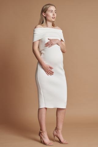 Ivory Holly Maternity Dress