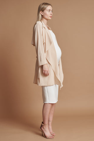 Nude Waterfall Maternity Jacket