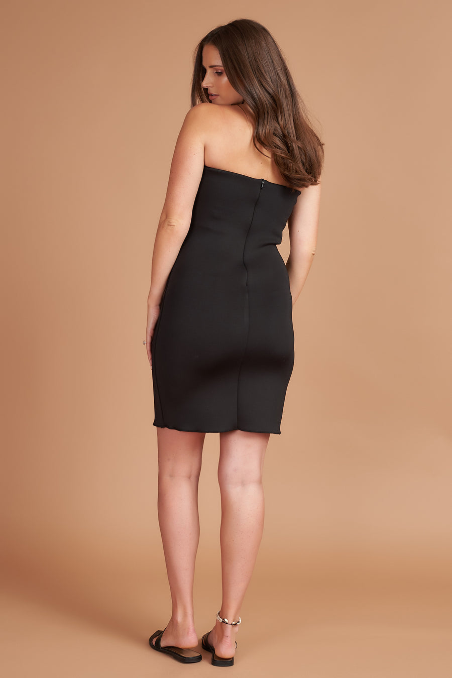 Black Bandeau Maternity Mini Dress
