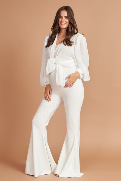 Maternity Stretch Flares (Ivory)