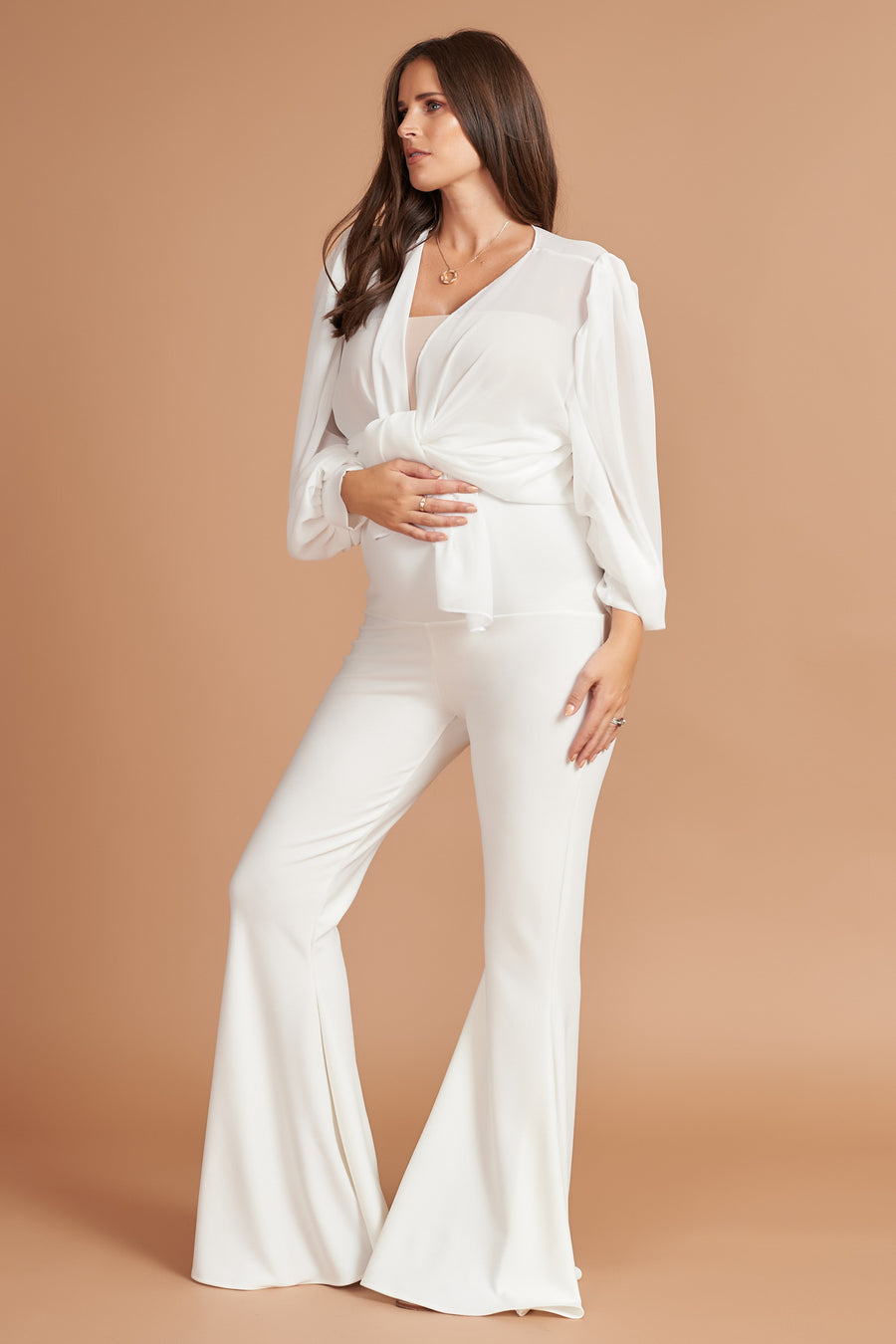 Ivory Maternity Stretch Flares - SALE