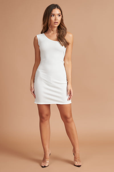 Cream Bodycon Mini Dress