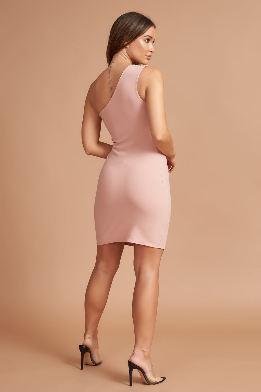 Dusty Pink Bodycon Mini Dress