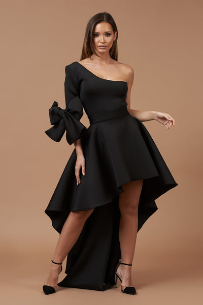 Black One Shoulder Roxy Dress