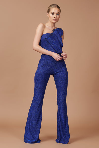 LTD Edition Cobalt Sparkle Lurex Jumpsuit