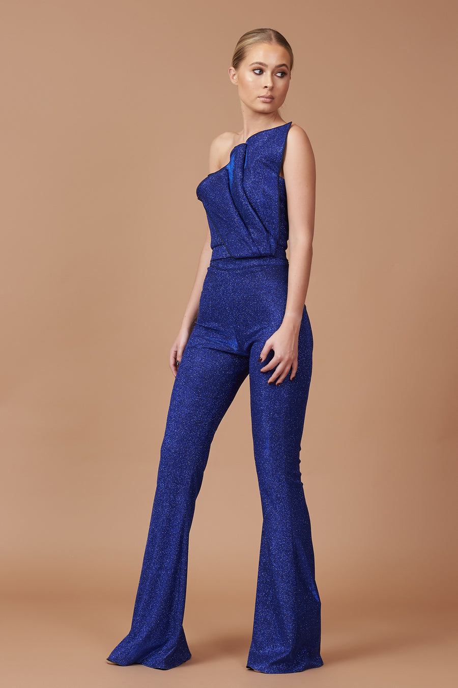 Pre Loved LTD Edition Cobalt Sparkle Lurex Jumpsuit