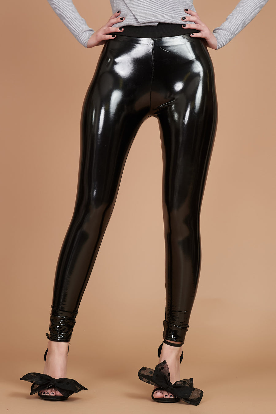 Black PVC Leggings