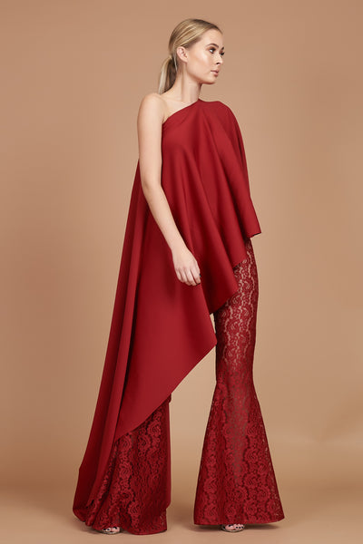 Crimson Lace Stretch Flares