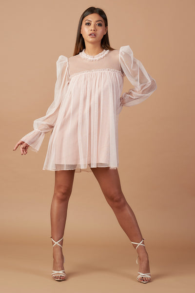 Pink Sparkle Tulle Tunic Dress