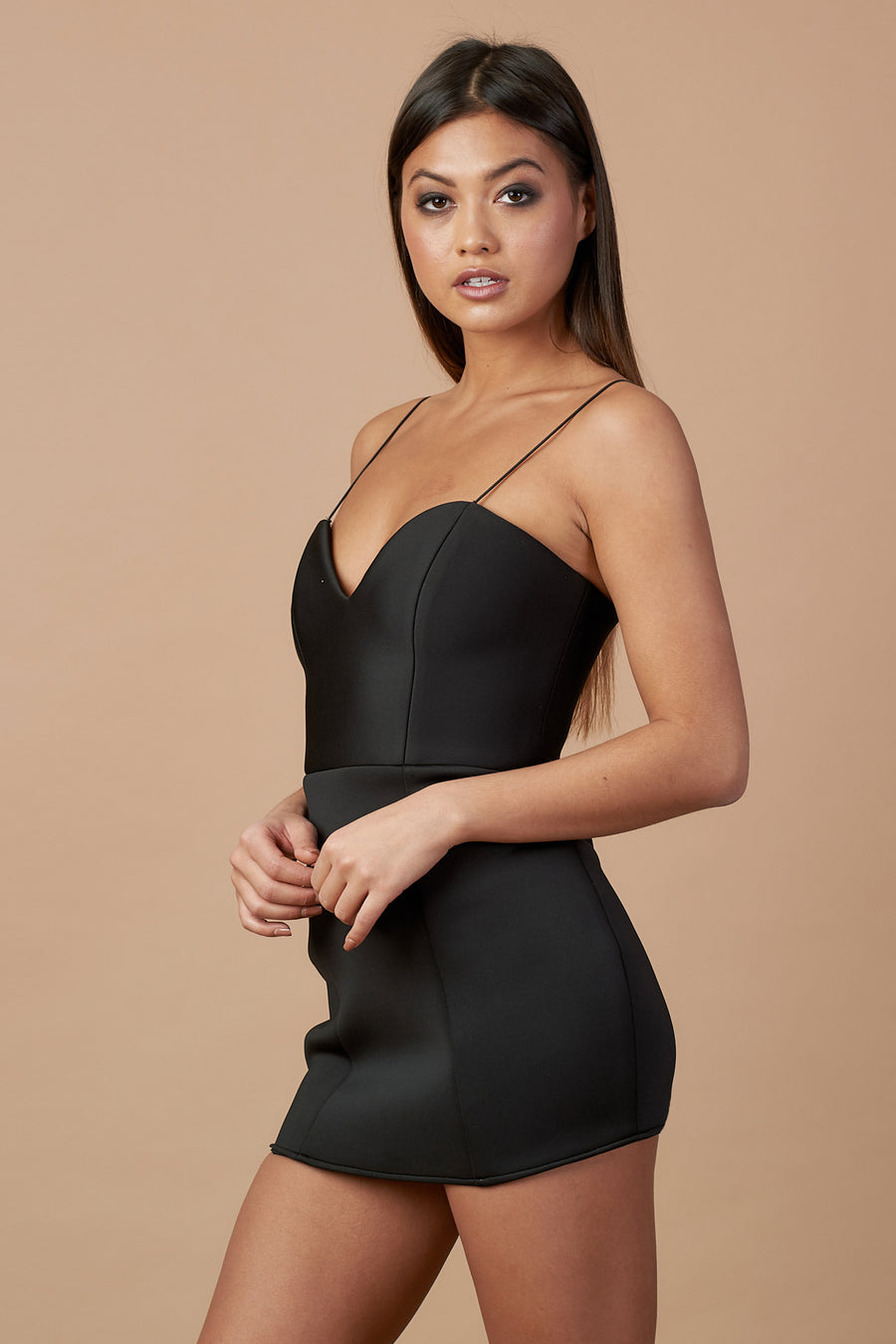 Black Bodycon Mini Cami Dress