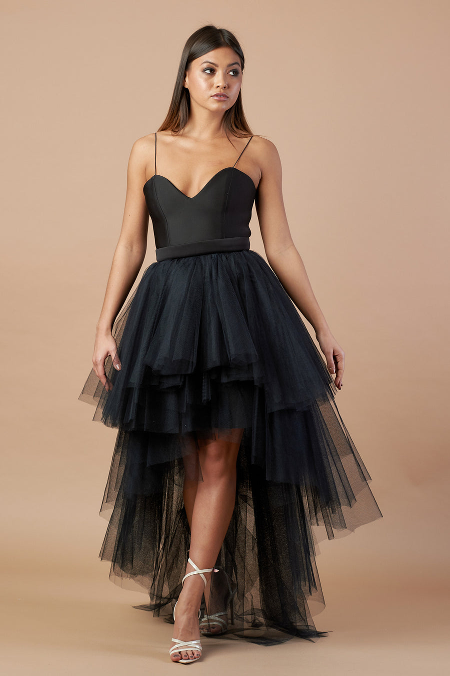 Black Icon Tulle Dress