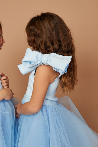 Pia Baby Blue Bow Top