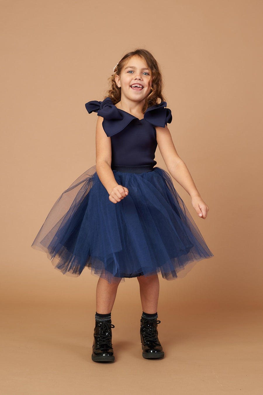 Kai Navy Tulle Dress