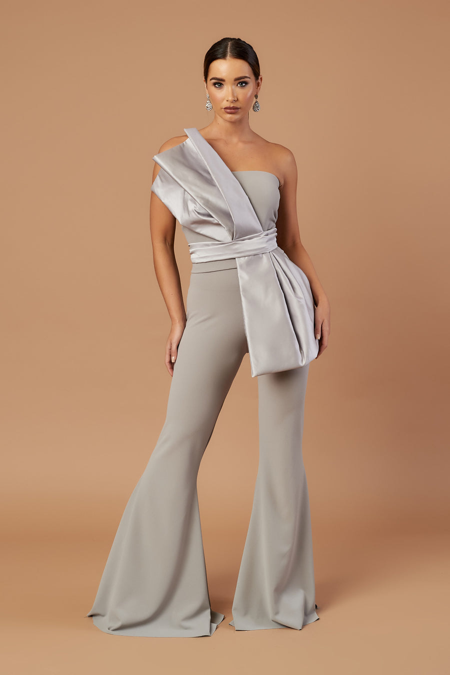 Silver Duchess Satin Pleat Top