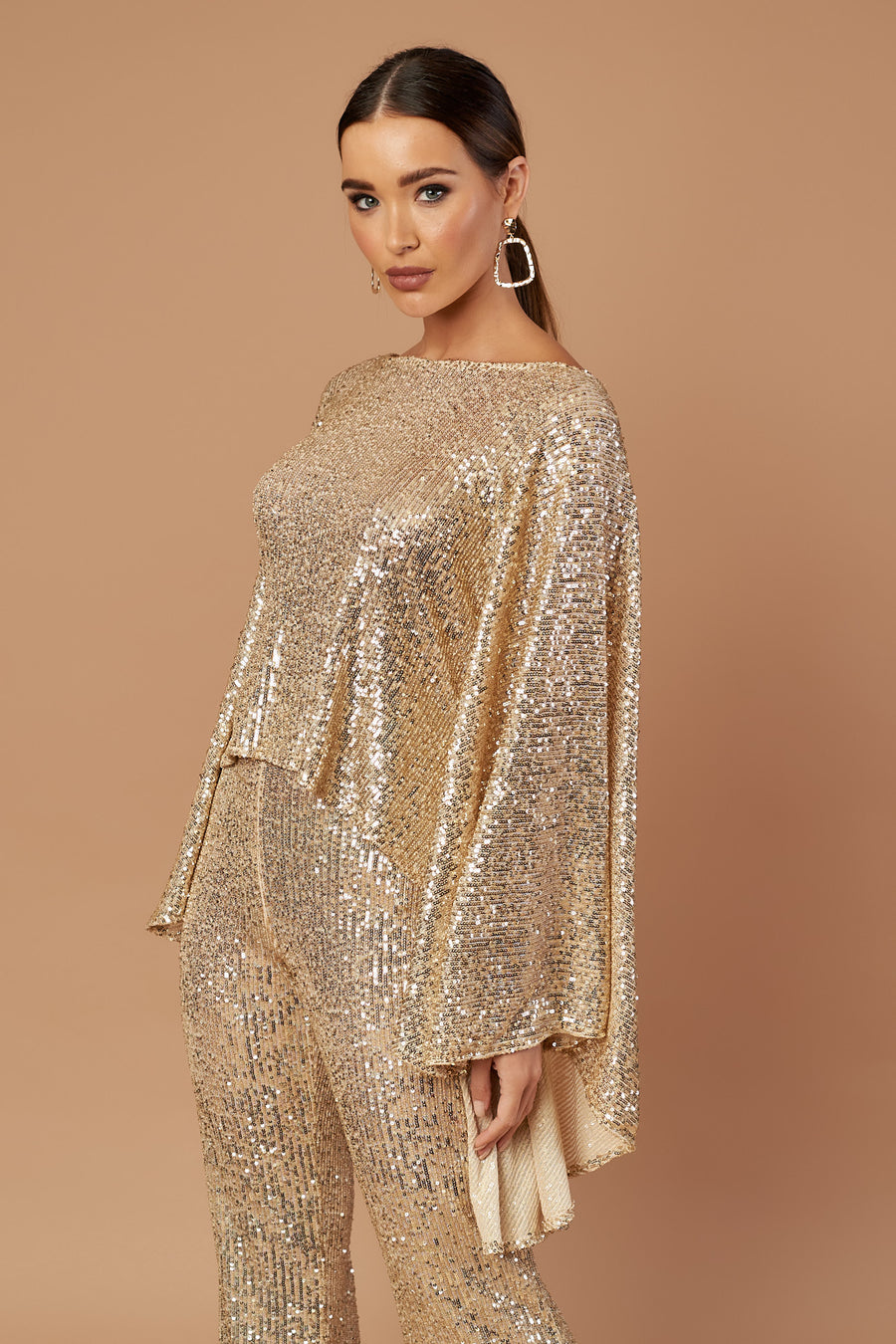Gold Sequin Taba Top