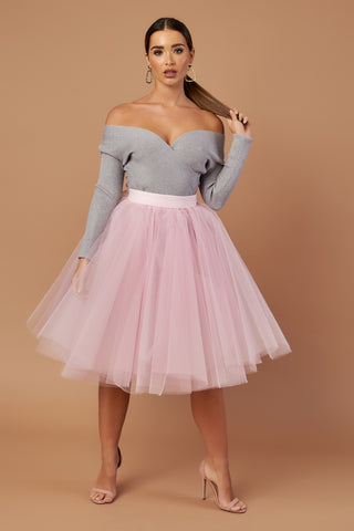 Dusty Pink Tulle Skirt