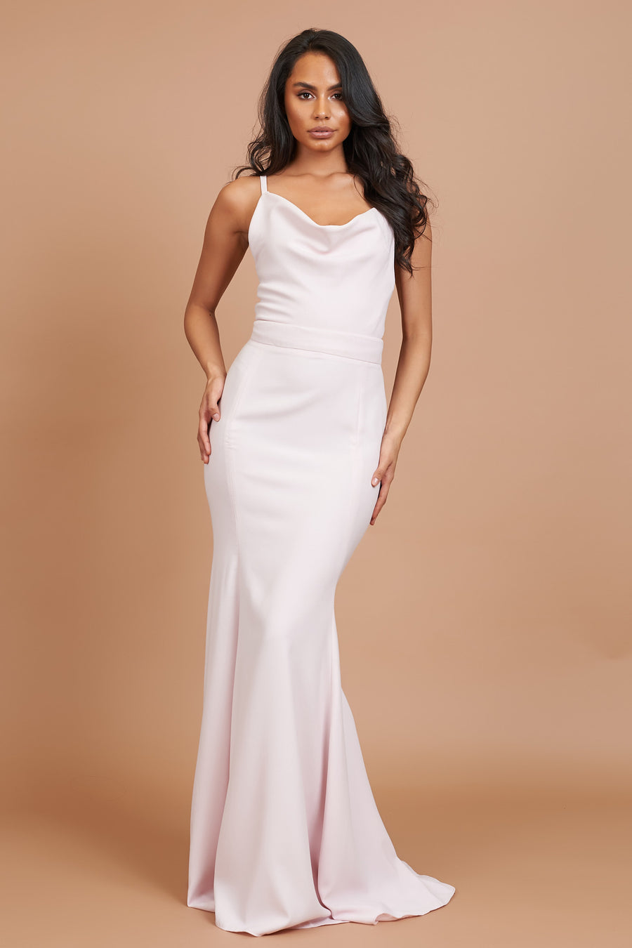 Cowl Neck Bridesmaid Dress