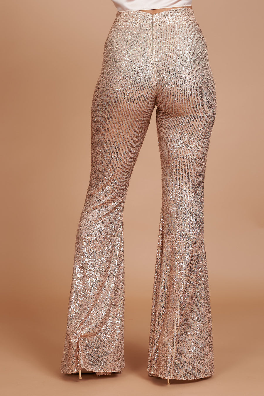 Rose Gold Stretch Flares