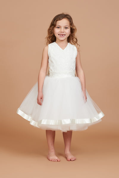 Fleur Embroidered Flower Girl Dress