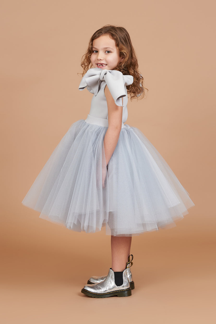 Holly Silver Tulle Dress