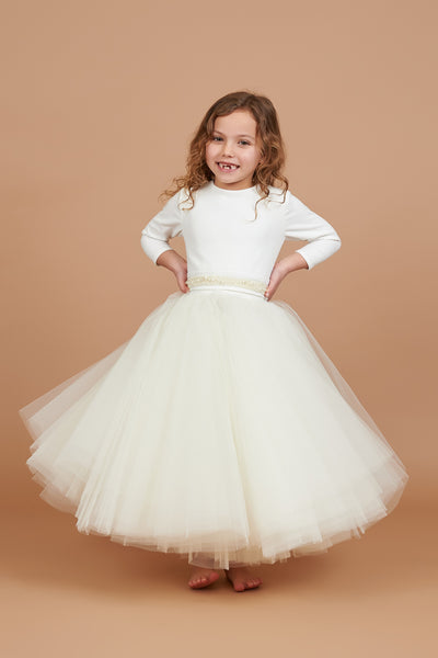 Lottie Pearl Waist Tulle Dress