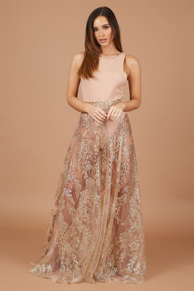 LTD Edition Pink Ombre Sparkle Maxi Skirt