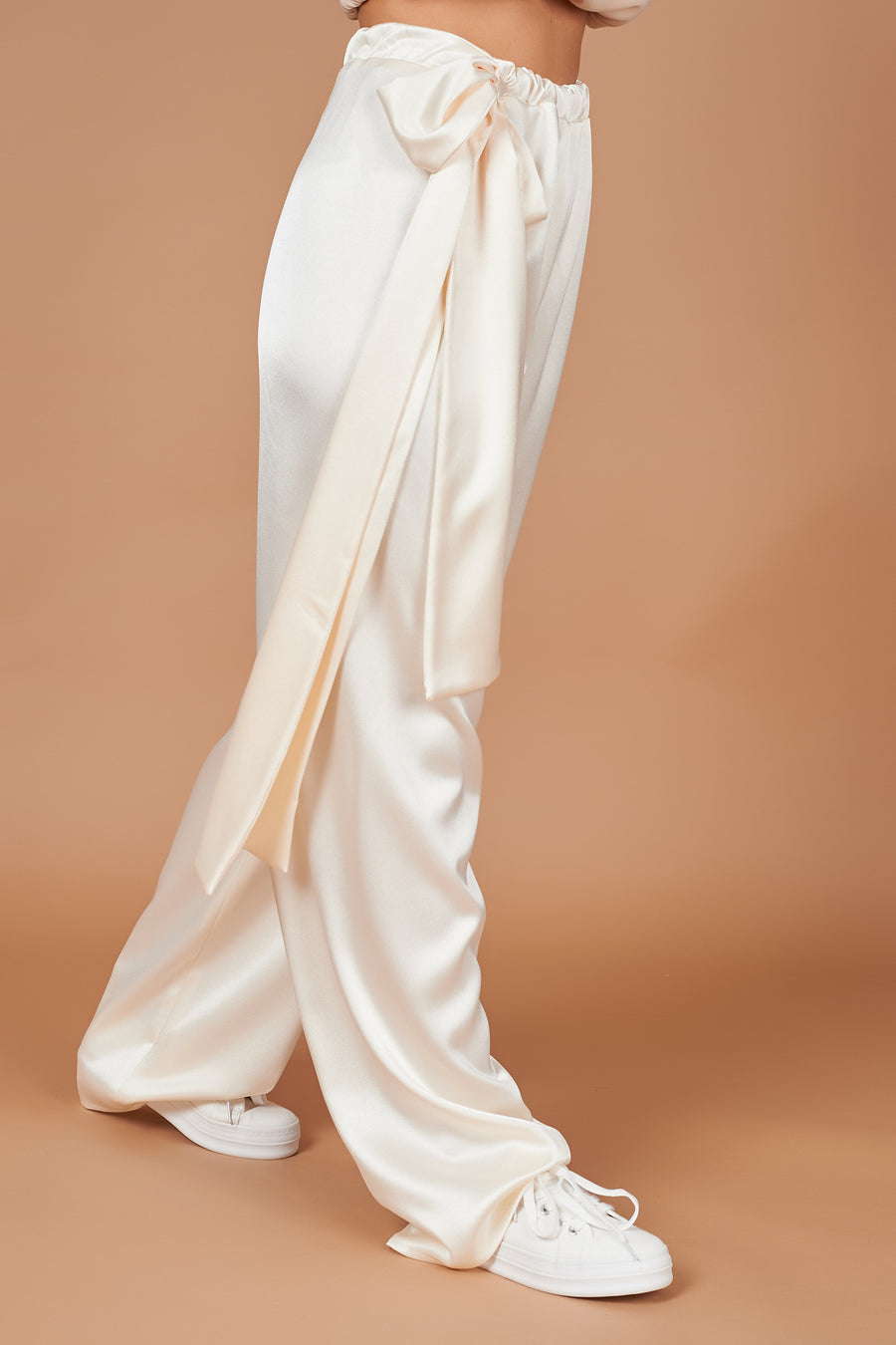 Champagne Satin Lounge Trousers