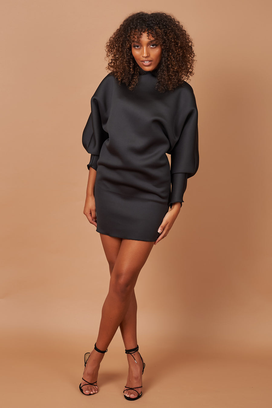 Black Mini Hoodie Dress