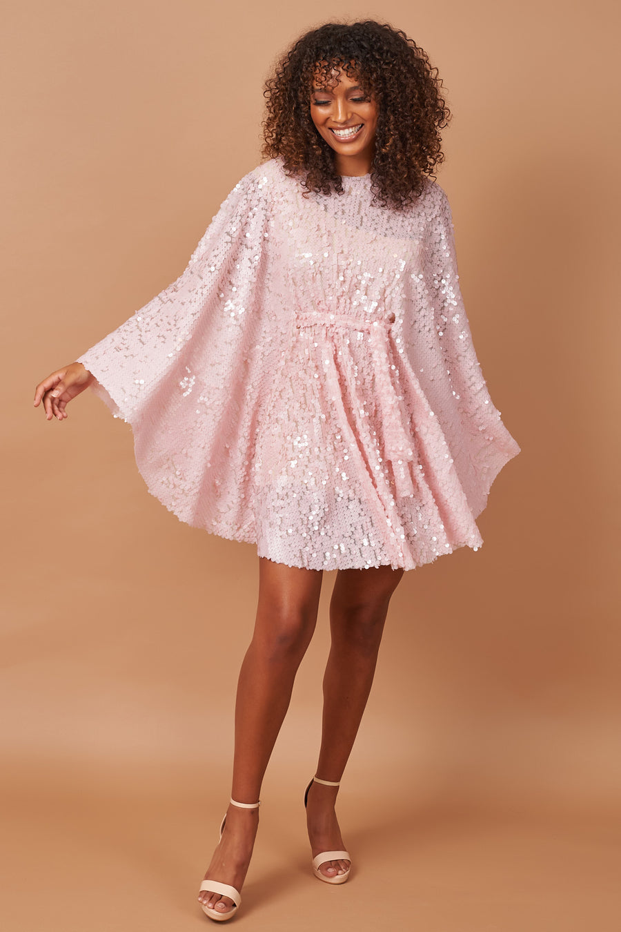 Pink Sequin Dazzle Circle Dress
