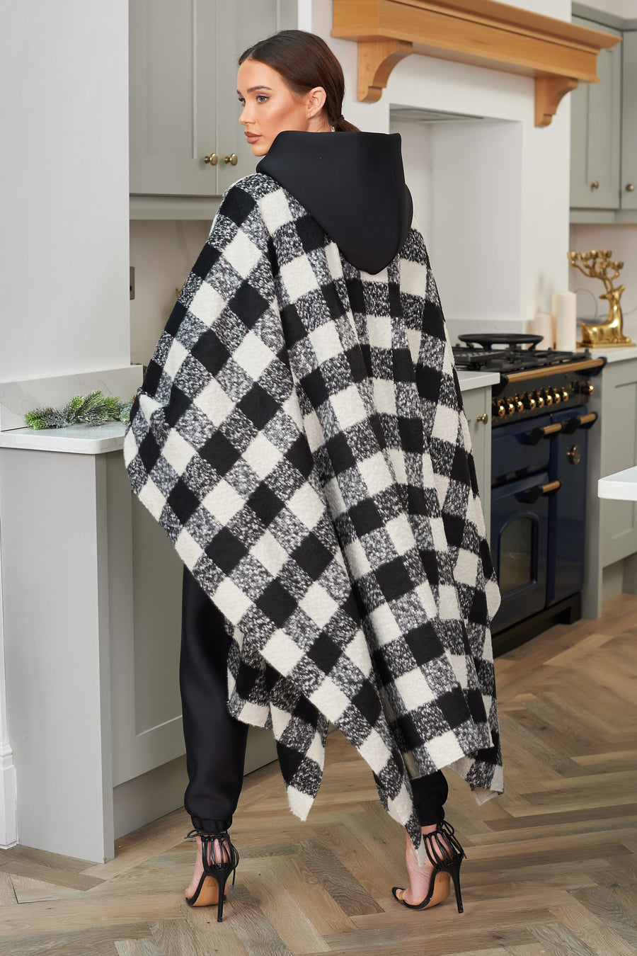 Gingham Knitted Cape