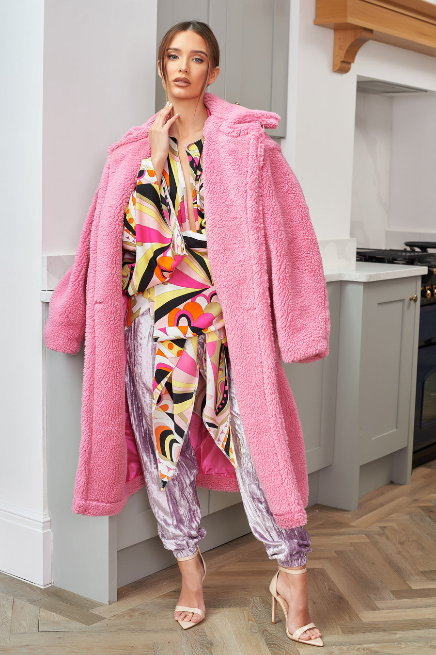 Pink Teddy Bear Coat