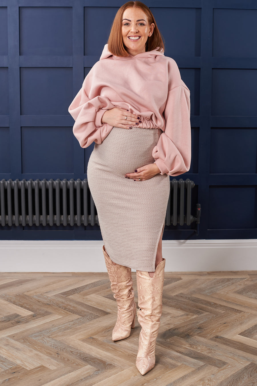 Stone Maternity Textured Knit Skirt