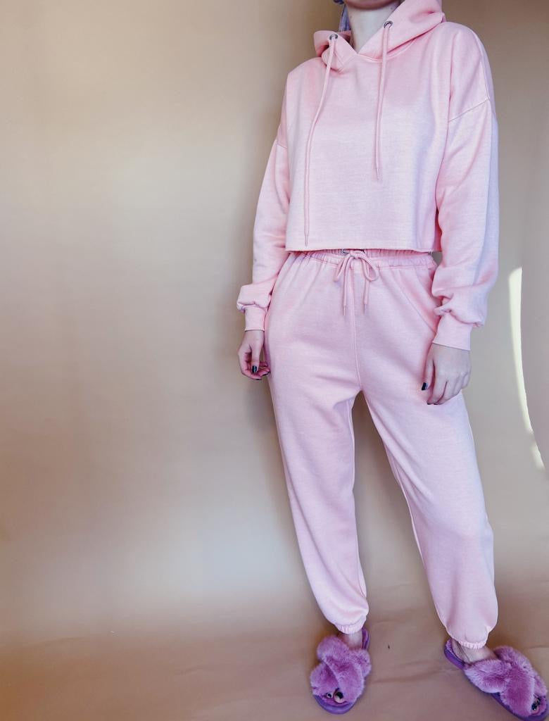 Pink Drawcord Lounge Jogger