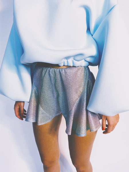 Iridescent Metallic Sparkle Shorts