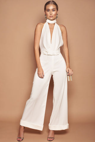 Turn Up Cropped Jumpsuit