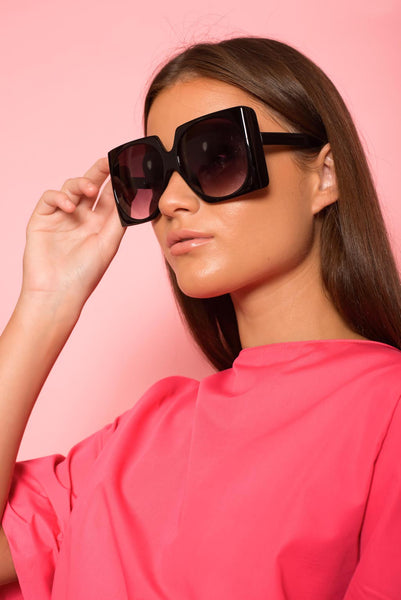 Black Square Statement Sunglasses
