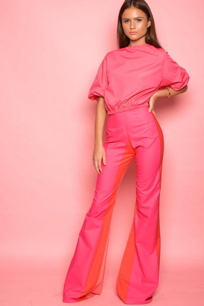 Pink Stripe Trousers