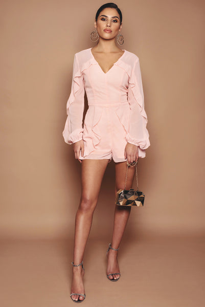 Baby Pink Frill Playsuit