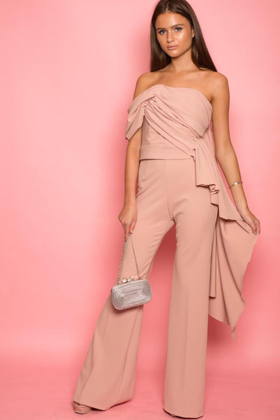 Dusty Pink Draped Jumpsuit