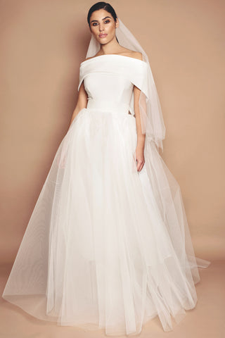 Ivory Holly Wedding Dress - Full Length