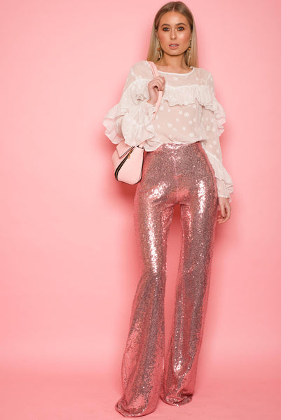 Bright Pink Sequin Trousers